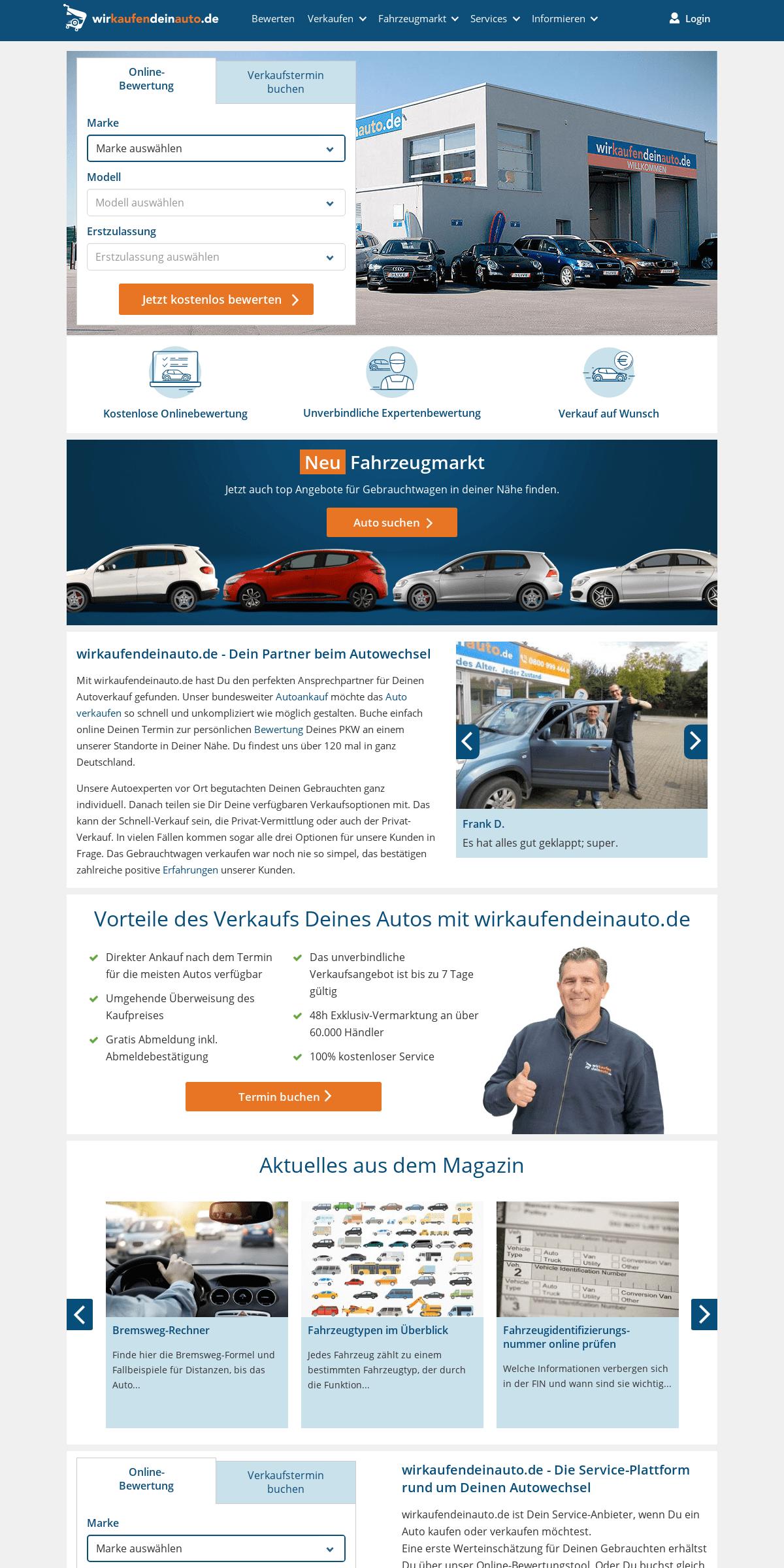 Schnell, einfach, immer die beste Lösung - wirkaufendeinauto.de