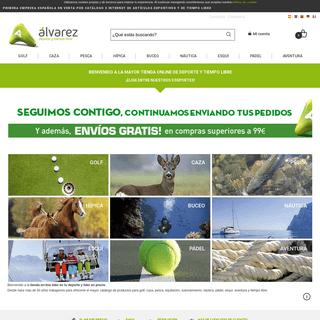 Tu tienda de deportes online y tiempo libre - Alvarez