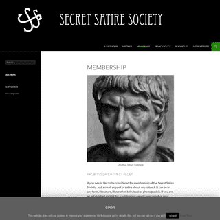 ArchiveBay.com - secret-satire-society.org - Membership - SSS