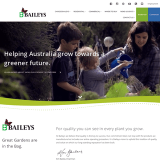 Quality garden fertiliser, potting mix, wetting agents a complete range of commercial and residential products - Baileys Fertili
