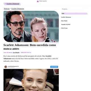 Scarlett Johansson- Bem-sucedida como nunca antes - DiarioEsportes.com