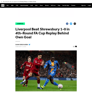 Liverpool Beat Shrewsbury 1-0 in 4th-Round FA Cup Replay Behind Own Goal - Bleacher Report - Latest News, Videos and Highlights