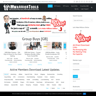 iMWarriorTools.com - Free Download - Internet Marketers Arsenal- FREE Download IM Big Courses, WSO Products, IM Tools & more...