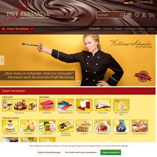 Ihr Backzubehör-Onlineshop für hochwertige Produkte - Pati-Versand