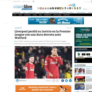Liverpool perdió su invicto en la Premier League con una dura derrota ante Watford - AlAireLibre.cl