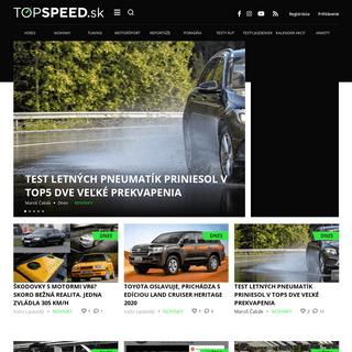 Novinky, testy, recenzie - TOPSPEED.sk