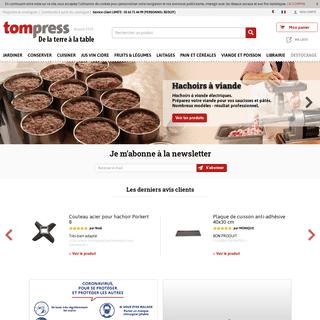 Conserver, cuisiner et tout pour le fait maison avec - Tom Press
