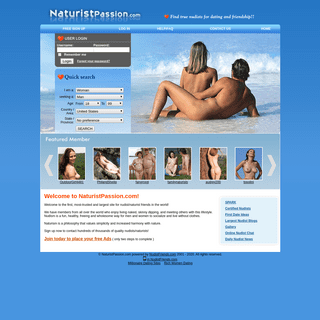 The best Nudist Dating Site for Nudist Friends and Nudist Singles! - Naturistpassion.com