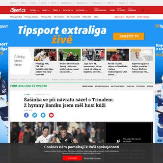ArchiveBay.com - isport.blesk.cz/clanek/fotbal-1-liga-rocnik-2019-20/375785/sasinka-se-pri-navratu-sazel-s-trmalem-z-hymny-baniku-jsem-mel-husi-kuzi.html - Šašinka se při návratu sázel s Trmalem- Z hymny Baníku jsem měl husí kůži - iSport.cz