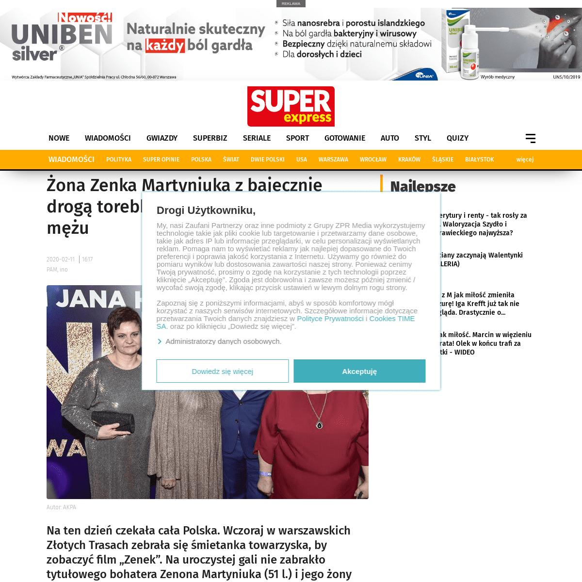 ArchiveBay.com - www.se.pl/wiadomosci/gwiazdy/zona-zenka-zadala-szyku-z-torebka-za-11-tys-zl-aa-Fvrm-ifSP-Z3GH.html - Żona Zenka Martyniuka z bajecznie drogą torebką na premierze hitu o jej mężu - Super Express