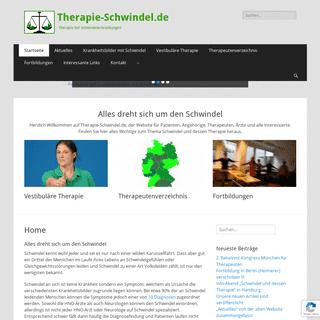 Schwindeltherapie - Informationen zu Schwindel und dessen Therapie