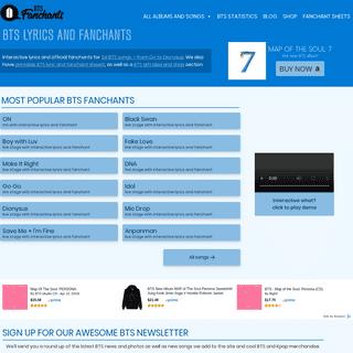 BTS Fanchants - Interactive BTS lyrics and fanchants – read or sing along
