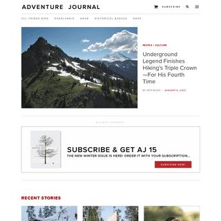 Adventure Journal - The deeper you get, the deeper you get