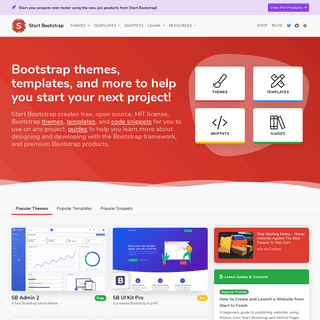 Free Bootstrap Themes, Templates, Snippets, and Guides - Start Bootstrap