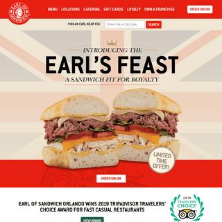 Earl of Sandwich® - THE ORIGINAL SANDWICH SINCE 1762
