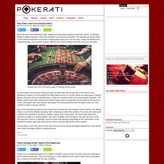 Pokerati Texas Hold'em and WSOP Poker Blog