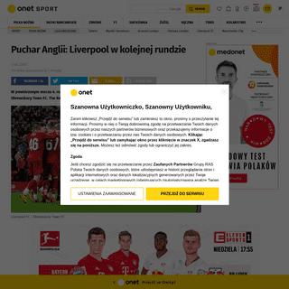 ArchiveBay.com - sport.onet.pl/pilka-nozna/liga-angielska/puchar-anglii-liverpool-w-kolejnej-rundzie/g1eyndf - Puchar Anglii- Liverpool w kolejnej rundzie - Piłka nożna