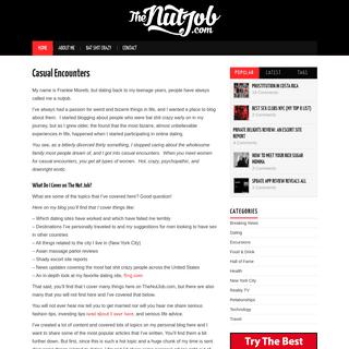 The Nut Job Casual Encounter Blog - TheNutJob.com
