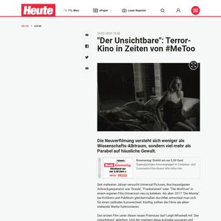 -Der Unsichtbare-- Terror-Kino in Zeiten von #MeToo - Kino - heute.at