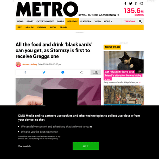 ArchiveBay.com - metro.co.uk/2020/02/21/black-cards-can-get-stormzy-first-receive-greggs-one-12280086/ - All the food and drink 'black cards', as Stormzy is first to receive Greggs one - Metro News