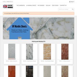 FLEX PVC Laminates and UV Marble Sheets