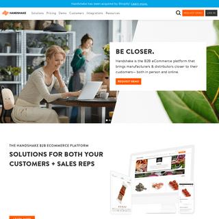 Handshake - B2B eCommerce Platform