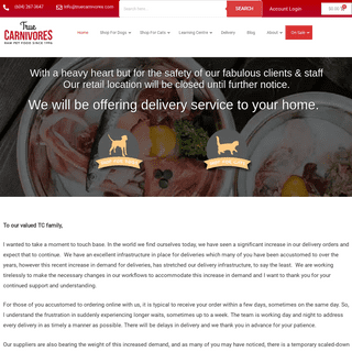 True Carnivores - Raw Food For Cats & Dogs Home Delivery