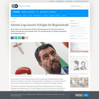 Salvinis Lega kassiert Schlappe bei Regionalwahl - Aktuell Europa - DW - 27.01.2020