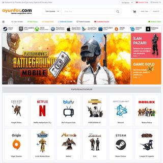 Türkiye'nin En Popüler, Oyun Epin Satış, Digital Kod Alışveriş Sitesi