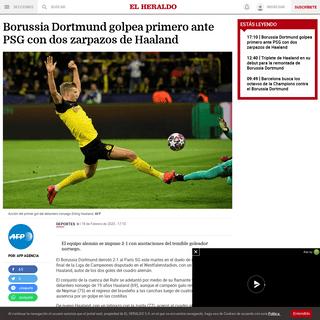 Borussia Dortmund golpea primero ante PSG con dos zarpazos de Haaland - El Heraldo