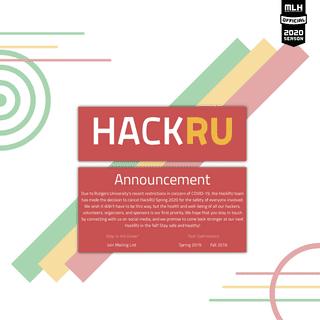 HackRU Spring 2020