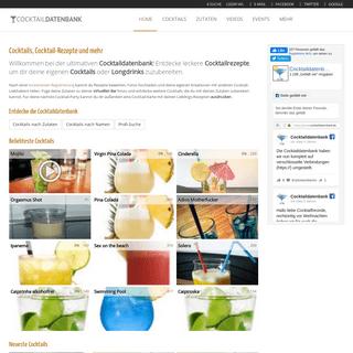 Cocktails, Cocktail-Rezepte und Longdrinks · Cocktaildatenbank