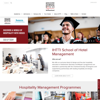 School of Hotel, Hospitality and Design Management