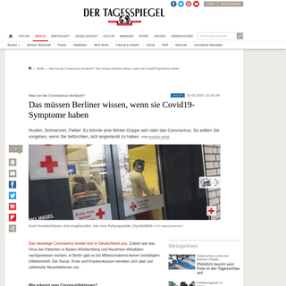 Was tun bei Coronavirus-Verdacht-- Das müssen Berliner wissen, wenn sie Covid19-Symptome haben - Berlin - Tagesspiegel