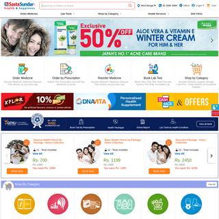 Order Genuine Medicine, Best Online Pharmacy in India - SastaSundar.com