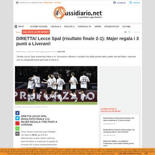 DIRETTA- Lecce Spal (risultato finale 2-1)- Majer regala i 3 punti a Liverani!