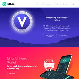 Ethos- People-Powered Blockchain Platform & Universal Wallet