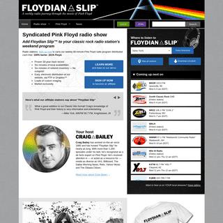 Syndicated Pink Floyd radio show for classic rock radio stations - Floydian Slip