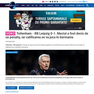 Video - Tottenham - RB Leipzig 0-1. Meciul a fost decis de un penalty, iar calificarea se va juca în Germania