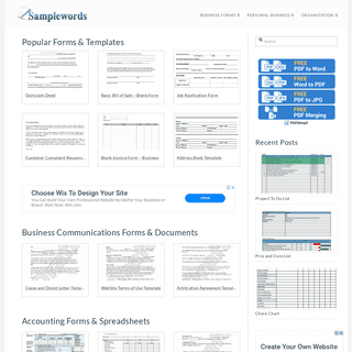 Printable Business Forms, Sample Documents & Spreadsheets