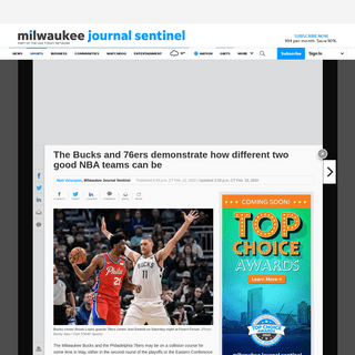 ArchiveBay.com - www.jsonline.com/story/sports/nba/bucks/2020/02/22/bucks-76-ers-show-how-different-good-nba-teams-can/4829809002/ - Bucks, 76ers show how different good NBA teams can be