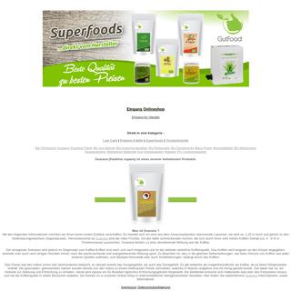 Goldener Zweig Online-Shop für Superfoods - Guarana - Bio Gerstengrassaft- Bio Reisprotein - Bio Erbensprotein und vieles meh