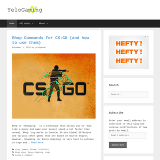 YeloGaming – Just Another Gaming Blog