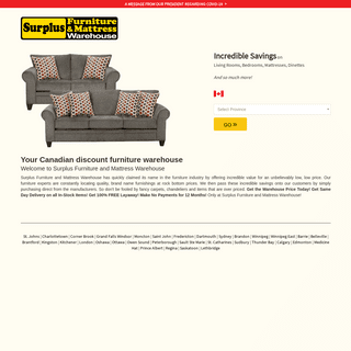 Surplus Furniture and Mattress Warehouse - Factory Outlet Warehouse