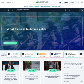 Marketplace - Business News & Economic Stories For Everyone.