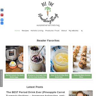 All The Nourishing Things - Uncomplicated Real Food & Holistic Living