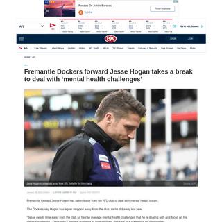 AFL 2020, Jesse Hogan, mental health challenges, Fremantle Dockers - Fox Sports