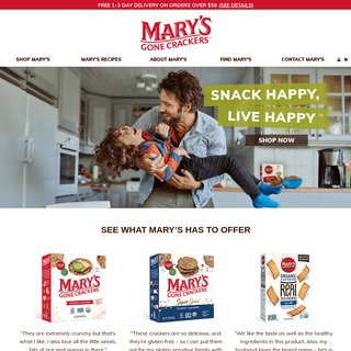 Mary's Gone Crackers - Authentic. Organic. Gluten Free. Always