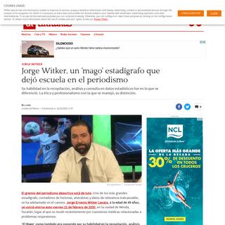 Jorge Witker, un 'mago' estadígrafo que dejó escuela en el periodismo - AS México
