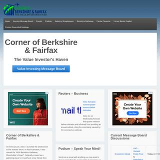 Corner of Berkshire & Fairfax - The Value Investor's Haven